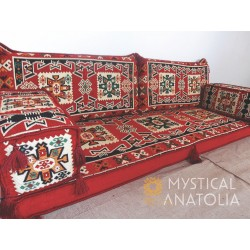 Floor sofa with double back...