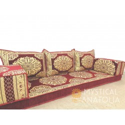 Floor sofa with triple back...