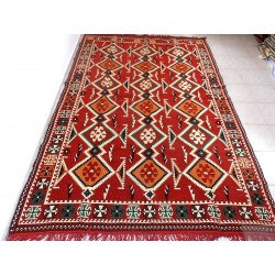 Turkish kilim rug with...