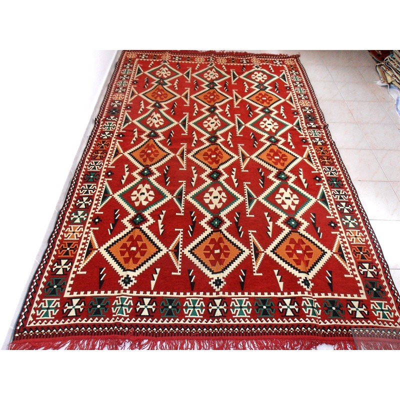 Kilim Fabric Rug,Turkish Kilim Rug,Tribal Rug,Traditional
